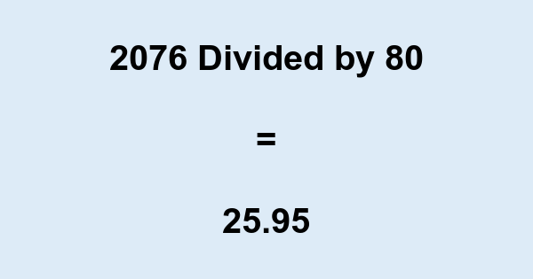 2076 Divided by 80