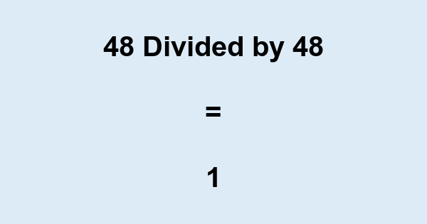 48 Divided by 48